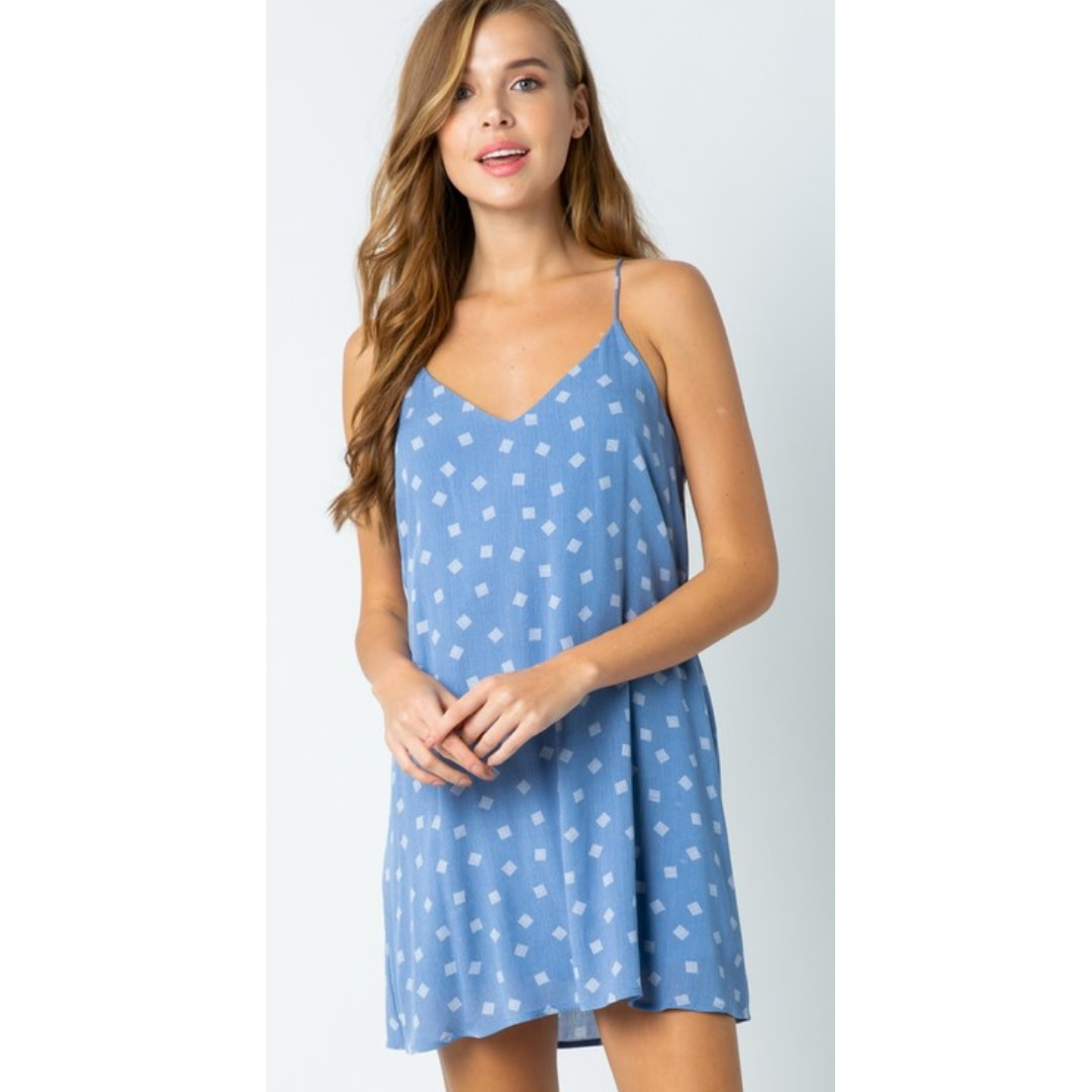 I'd Be Jealous Too Tunic Dress - Blue