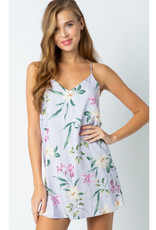 Talk You Out Of It Floral Tunic Dress - Lavender