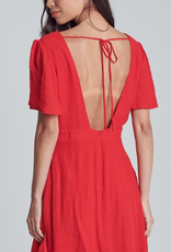 Got That Something Open Back Mini Dress - Tomato