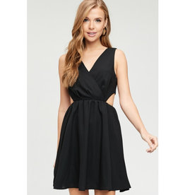 Made Me Think Of You Cut Out Dress - Black