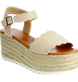 Carry Yourself Platform Band Sandal - Nude