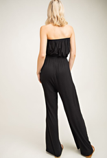 The Best Yet Strapless Jump Suit - Black