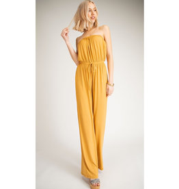 The Best Yet Strapless Jump Suit - Golden Brown
