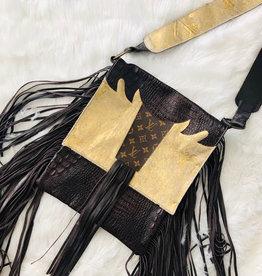 Upcycled LV Hometown Glory Shoulder Bag - Gold