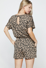 Who Do You Love Knit Romper - Leopard