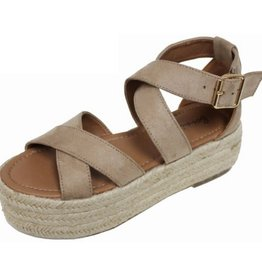 Soul Of Mine Strappy Criss Cross Espadrille - Natural