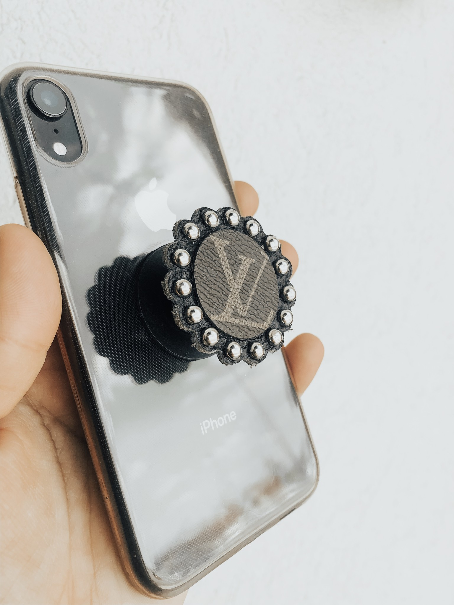 Upcycled LV Pop Socket