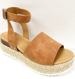 Head Turner  Strappy Espadrilles - Tan
