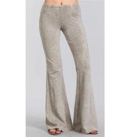 Nine To Five Bell Bottom Pants- Stone