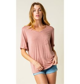 Bust A Move Knit V-Neck Top - Pink