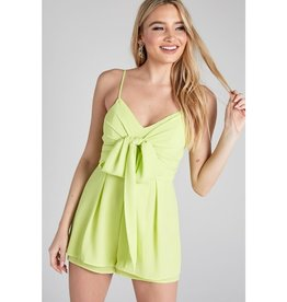 Gotta Get It Romper - Lime Yellow