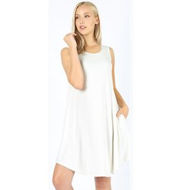 Simple And Sweet Dress - Ivory