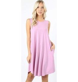 Simple And Sweet Dress - Mauve