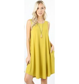 Simple And Sweet Dress - Wasabi
