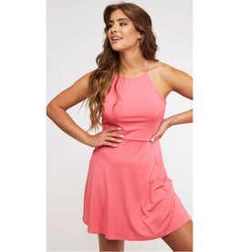 Keep It Cool Skater Dress - Coral