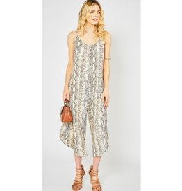 Like It Or Leave It Reptile Print Jumpsuit - Brown