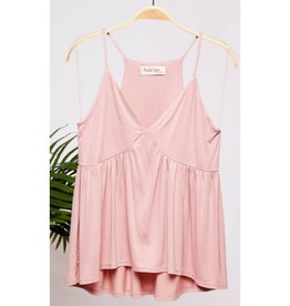 A Beautiful View Flowy Babydoll Cami Top  - Mauve