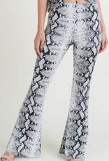 Thinking About You Snake Print High Waist Pants - Grey