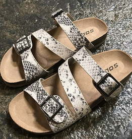 Stay Sharp Flat Sandals - Snake