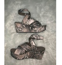Got You Wrapped Ankle Wrap Wedge - Taupe