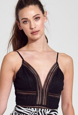 Just Poppin' Mesh Bodysuit - Black