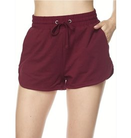So Sweet French Terry Shorts - Burgundy