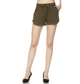 So Sweet French Terry Shorts - Olive