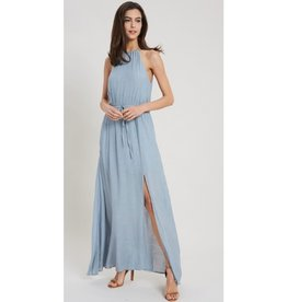 Back And Forth Halter Neck Maxi Dress - Cloud