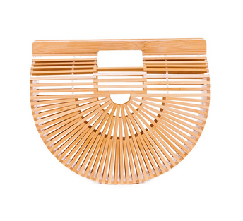 Bamboo Woven Clutch - Natural