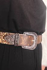 UPCYCLED LV Double Trouble Belt- Chic Leopard