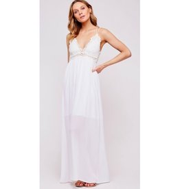 These Four Walls Bralette Maxi Dress - Ivory