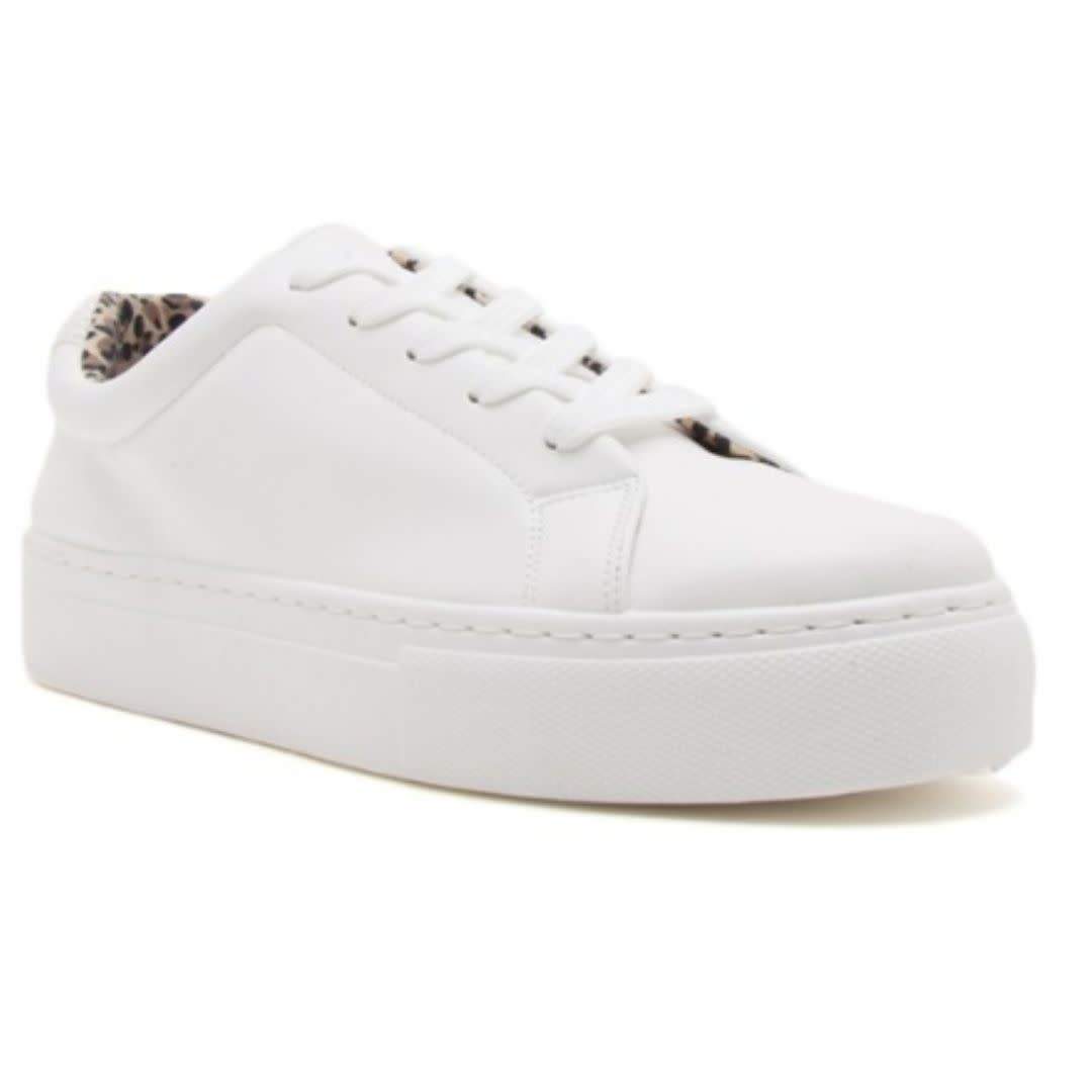 Old School Platform Sneakers - White
