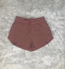 So Sweet French Terry Shorts - Mauve
