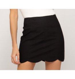 Let Me See Woven Mini Skirt - Black