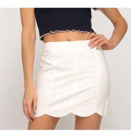 Let Me See Woven Mini Skirt - Off White