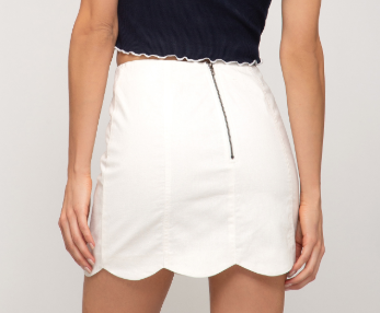 Let Me See Woven Mini Skirt - Off White