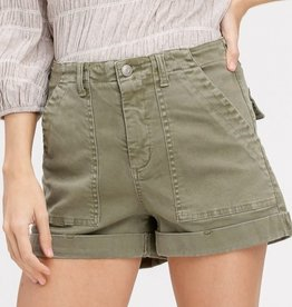 You Can Stay Stretch Cargo Shorts - Olive