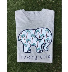IVORY ELLA Fit Palm Tree - Heather Grey