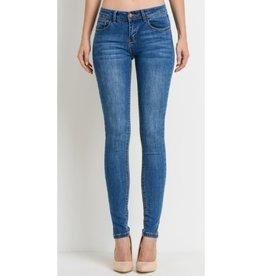 Watch Me Push Up Skinny Jeans - Light Wash