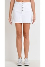 Ride Away With Me Distressed Mini Skirt - White