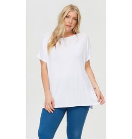 Arm's Wide Open Piko Short Sleeve Top - White