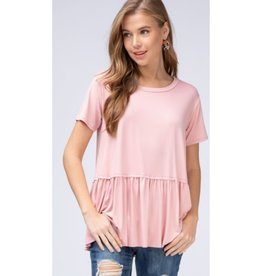 Gets Me Going Solid Scoop Neck Top - Dusty Rose