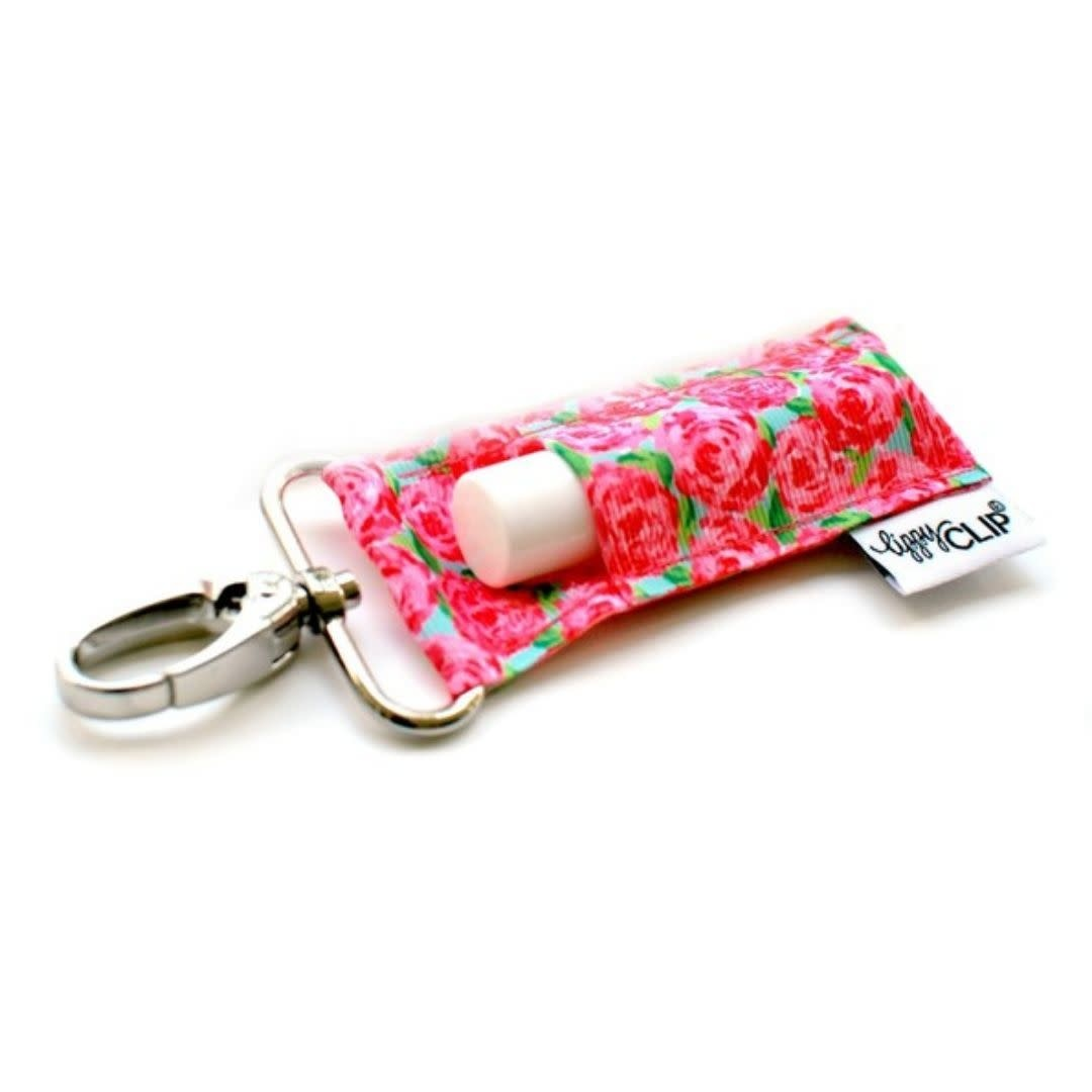 LIPPYCLIP Lip Blam Holder - Pink Roses