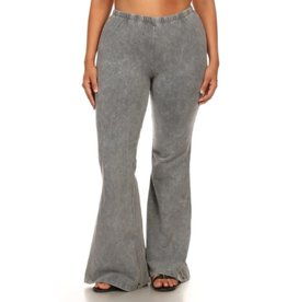 Nine To Five Bell Bottom Pants - Light Grey