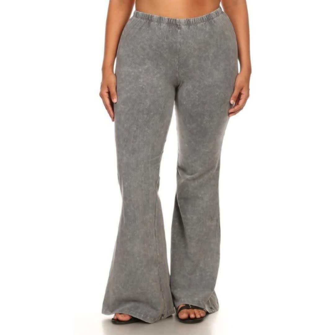 Nine To Five Bell Bottom Pants - Light Grey