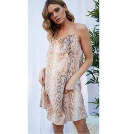 Proud Moment Animal Print Woven Dress - Cocoa Multi