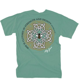 LG-Celtic Cross-SS-Light Green