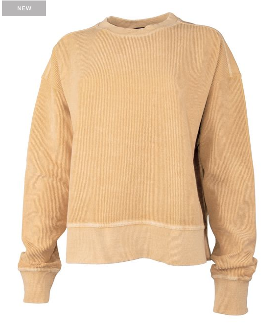 CHARLES RIVER Camden Crew Crop Sweatshirt - Honey