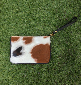 Keep Busy Leather Cowhide Purse - Chestnut