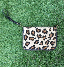 Keep Busy Leather Cowhide Purse - Cheetah